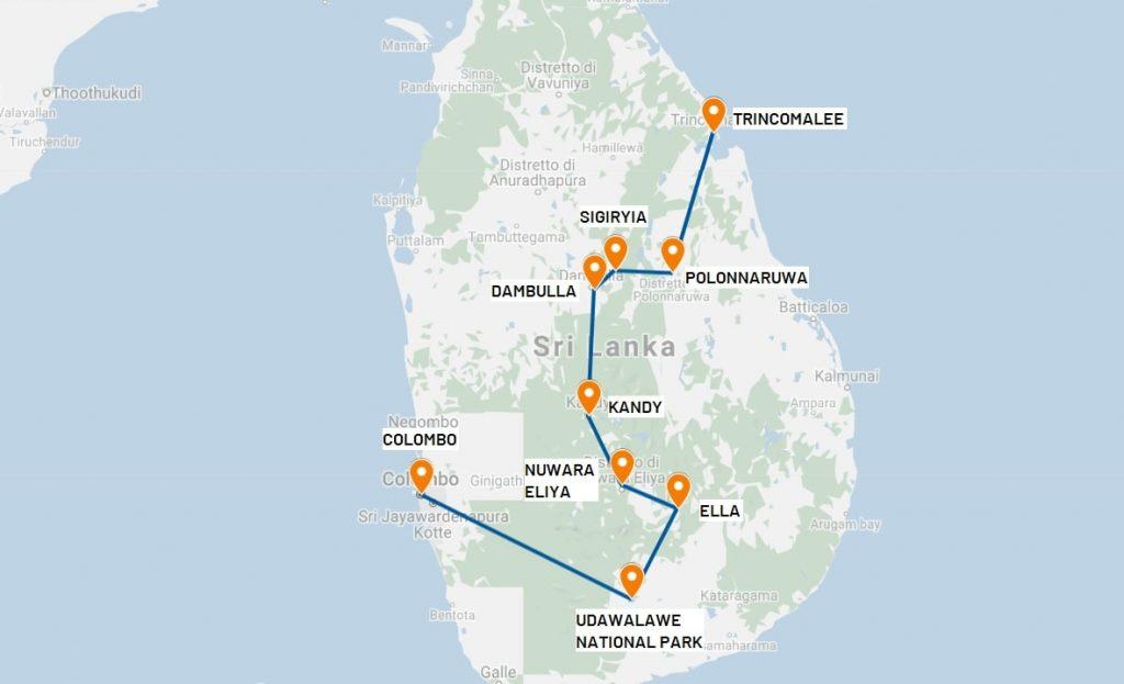 viaggio in Sri Lanka itinerario